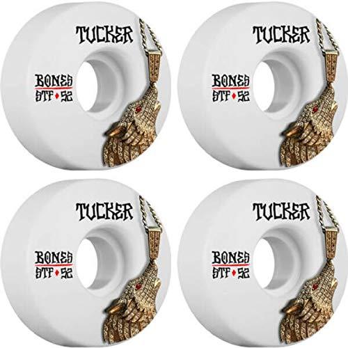 チャレンジ相続人紳士Bones Wheels Nick Tucker STFウルフチェーンスケートボードホイール – 52 mm 83b (Set of 4 )