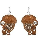 DONGMING Fashion Female Portrait Earrings African Turban Shaped Drop Earrings Creative Hook Dangle Earrings for Women…