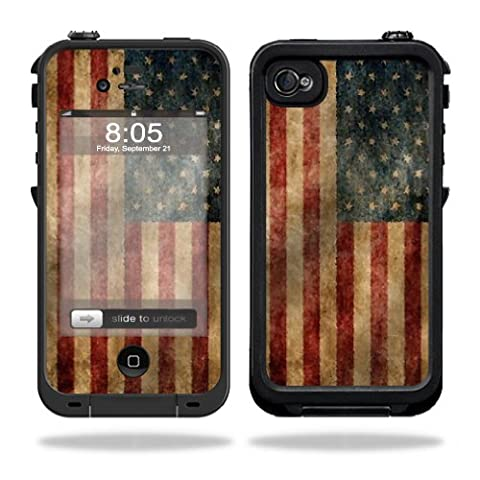 Skin Decal Wrap for LifeProof iPhone 4 / 4S Case sticker Vintage Flag (Iphone 4 Case Artsy)