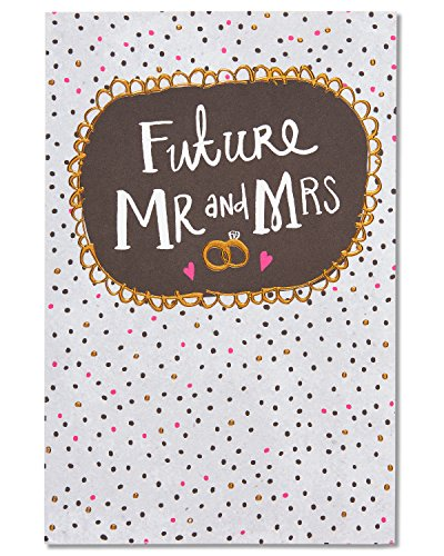 American Greetings Future Mr. and Mrs. Bridal Shower Wedding Card with Foil (5760235)