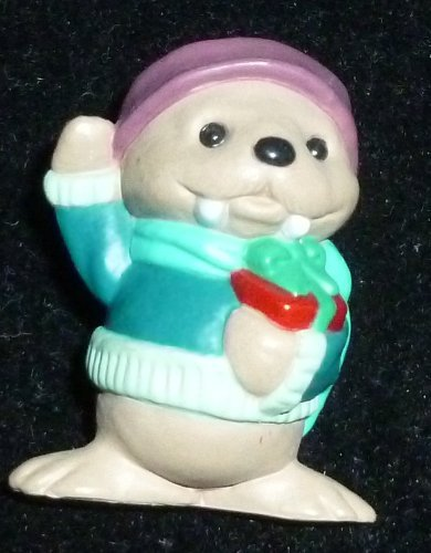 Hallmark Merry Miniature Christmas Walrus With Present Figurine
