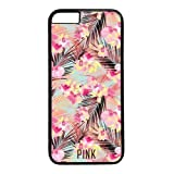 Iphone 6 Case,Victoria's Secret PINK Flowers Design PC Black Case for Iphone 6 4.7inch(I Series)
