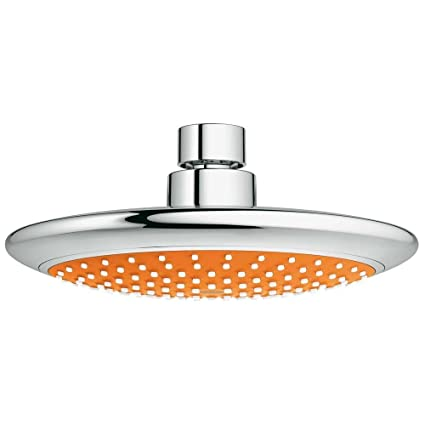 Grohe 114629 Rainshower Solo Orange 2 5gpm Head Shower in Starlight Chrome      Amazon com. Grohe 114629 Rainshower Solo Orange 2 5gpm Head Shower in