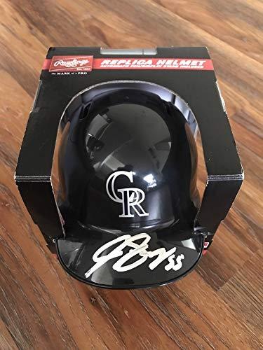 Jon Gray Autographed Signed Autograph Colorado Rockies Mini Baseball Helmet Rawlings Rare Sports Memorabilia JSA Certificate of Authentic Memorabiliaity Included ()
