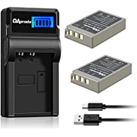 BLS-5 OAproda Batteries (2 Pack) and LCD USB Charger for Olympus BLS-5, BLS-50, PS-BLS5 and Olympus OM-D E-M10, PEN E-PL2, E-PL3, E-PL6, E-P3, E-PM1, E-PM2, Stylus 1