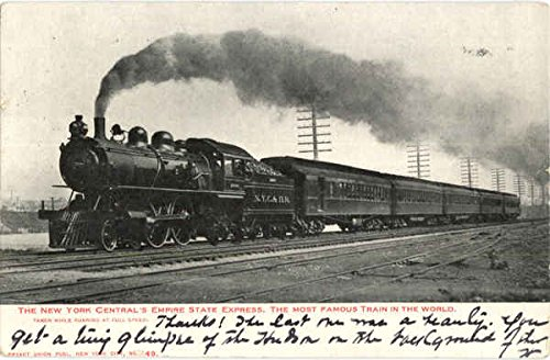 Central Empire State Express - The New York Central's Empire State Express Trains Railroad Original Vintage Postcard