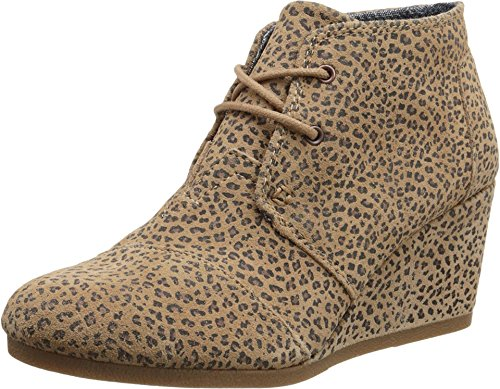 TOMS Women's Desert Wedge Cheetah Suede Printed Boot 12 B (M)