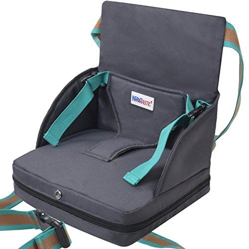 Infantastic Sitzerhöhung für Kinder von 6 bis 18 Monate bis zu 23 cm max. Traglast von 15 kg mit Gurten aus strapazierfähiger Baumwolle