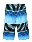 Unitop Men's Board Shorts Summer Holiday Striped