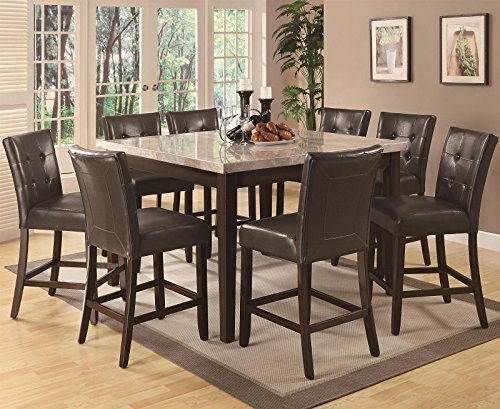 Coaster Milton Casual Dining Room Set with Dining Table and 8 x Bar Stool