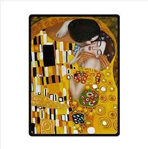 Blanket - Customized The Kiss by Gustav Klimt Fleece Blanket 58 x 80 (Large)