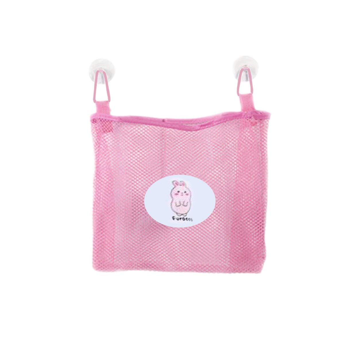 Tivolii Bath Tub Toy Hanging Mesh Storage Bag Organizer Portable Grid Oxford Fabric Nylon Double Suction Cup Hanging Travel Toiletry Kit Wash Bag Hanging Hook Storage Bag