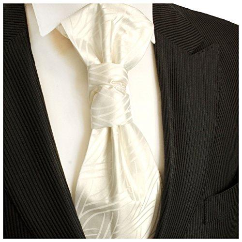 Hochzeitskrawatte ivory ivoire hochzeitsmode plastron pour homme by paul malone