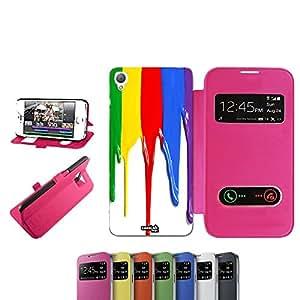 Pintura que cola caselabdesigns Flip Carcasa Funda para Sony Xperia Z3D6683Fucsia–Funda protectora plegable de rosa/fucsia