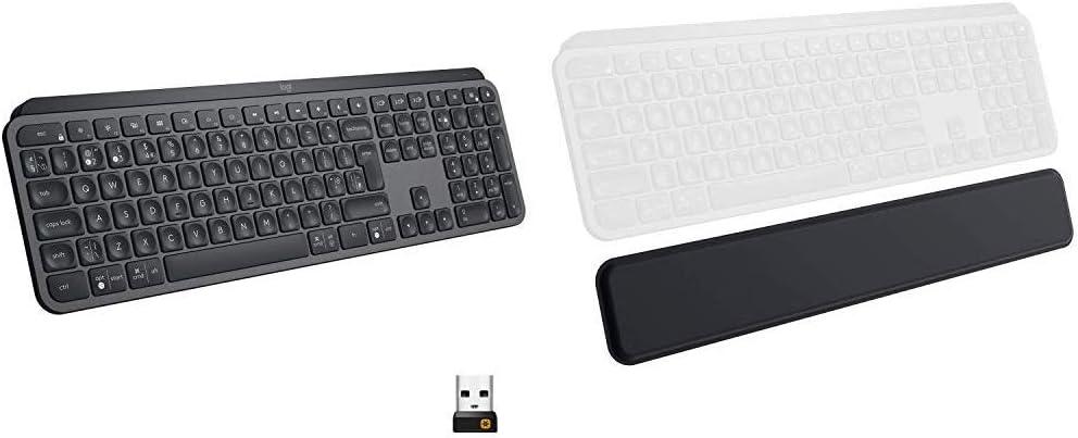 Graphite Bluetooth or USB Logitech MX Keys Advanced Wireless Illuminated Keyboard Graphite /& MX Anywhere 2S Wireless Mouse