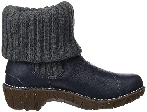 El Naturalista Ladies N097 Soft Grain Yggdrasil Short Boots Blue (ocean)