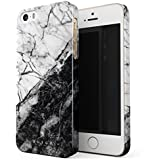 BURGA iPhone 5 / 5s / SE Case, Fatal Contradiction Black And White Marble Yin And Yang Thin Design Durable Hard Shell Plastic Protective Case For Apple iPhone 5 / 5s / SE