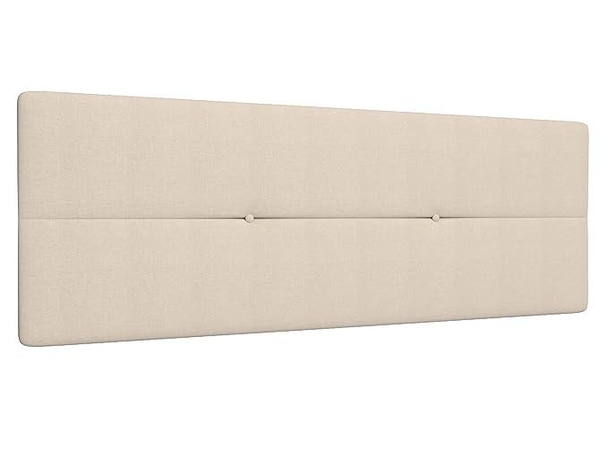 LA WEB DEL COLCHON Cabecero de Cama tapizado Acolchado Camile 115 x 55 cms Apto para Camas de 90 y 105 Textil Poliester Gris Claro Incluye herrajes para ...