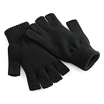 Amazon.com: Beechfield Unisex Plain Basic Fingerless