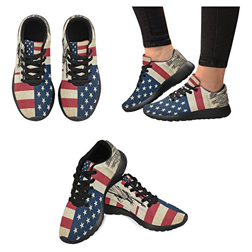 United With Sneaker Grunge Running Flag America 1 Comfort Multi Shoes Walking Easy Womens Running Of Casual InterestPrint Country Jogging Monuments Go Of States USA Lightweight wtFaxOWfq1