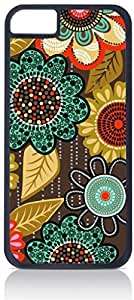 Floral Pattern- Case for the Case Cover For SamSung Galaxy S3 Only-Hard Black Plastic Outer Shell