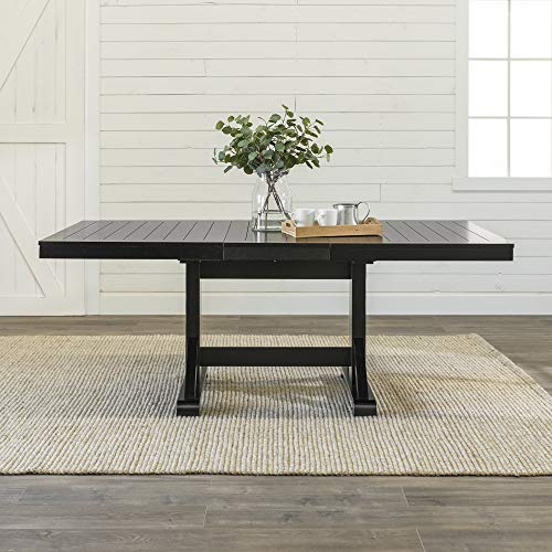 WE Furniture AZW60WBL Dining Table, 60
