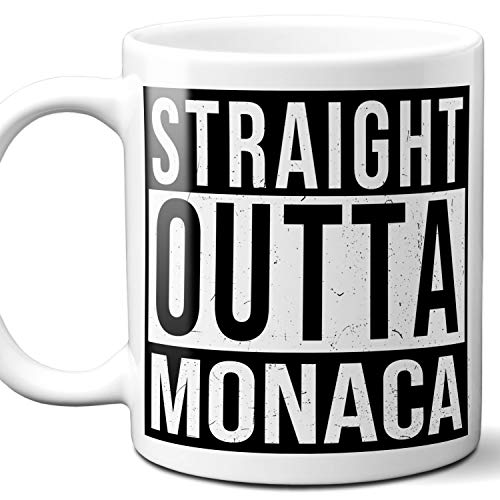 Straight Outta Monaca Souvenir Gift Mug. I Love City Town USA Lover Coffee Unique Tea Cup Men Women Birthday Mothers Day Fathers Day Christmas. 11 oz.