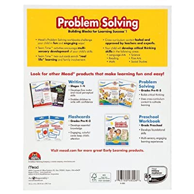 Mead Kindergarten Problem Solving Workbook, 10 x 8-Inches, 96 Pages (48026): Office Products