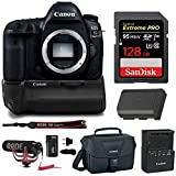 Cheap Canon EOS 5D Mark IV Professional Digital Camera: 30 Megapixel 4K Video DSLR Bundle with Canon BG-E20 Battery Grip Rode Microphone 128GB and Bag – Complete Photography and Video Bundle