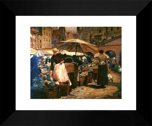 Market Day at Nuremberg 15x18 Framed Art Print by Tiffany, Louis - Galleria Louis At
