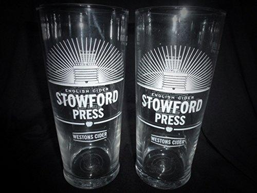 Westons Stowford Press Pint Glasses CE 20OZ/568ml (Set of 2)
