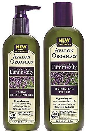 a28b028ecdf Gel nettoyant visage et lotion hydratante visage Lavande BIO 100% végétale  Avalon Organic Pack soin visage 2 produits  Amazon.fr  HygiÚne et Soins du  corps
