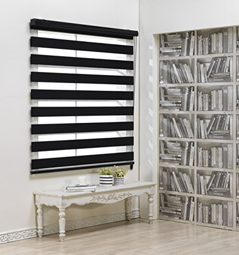 Custom Cut to Size , [Winsharp Blackout Fetra , Black , W 91 x H 72 (Inch)] Roller (70x40 Wide Blinds For Windows)