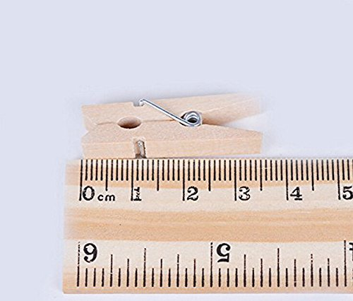 36/Mini pinzas abrazaderas de multifuncional para papel ropa DIY Mini fotos peque/ñas de madera Clip una pack-natural lumanuby 50pcs Pinzas De Madera Para La Ropa