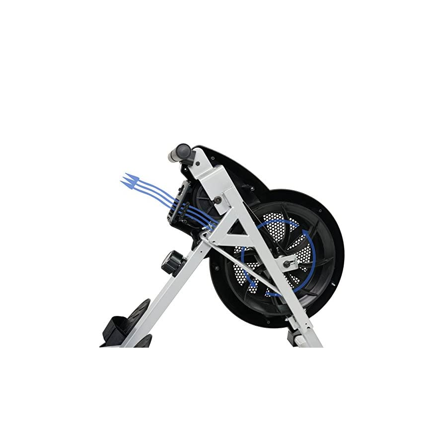 Sunny Health & Fitness SF RW5633 Air Rowing Machine Rower w/ LCD Monitor