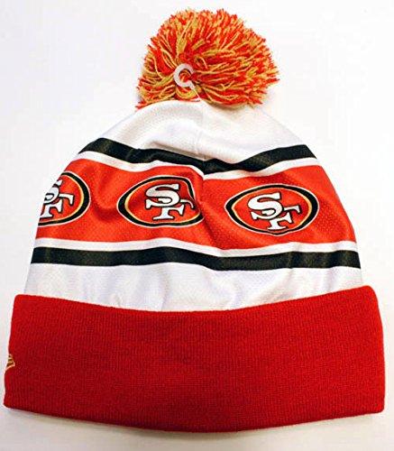 6630a95cf58 Amazon.com   New Era San Francisco 49ers Ka Nit Cuffed Pom Knit Beanie Hat  Cap   Sports   Outdoors
