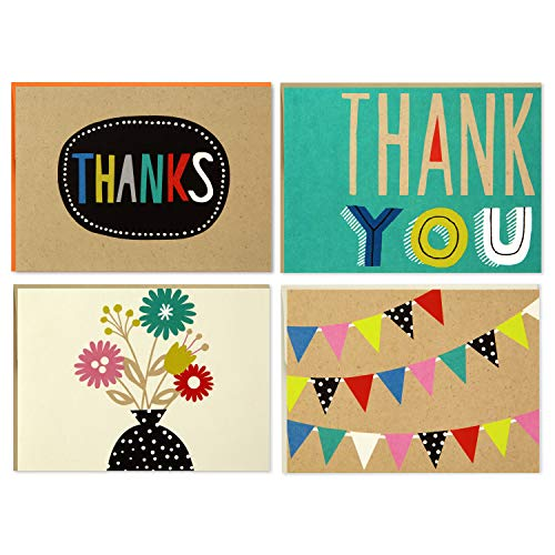 Boxed Thank You and Blank Notes Assortment, Hallmark (Four Assorted Designs, 40 Cards and Envelopes)