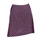 Monterey Club Ladies Contrast Side Flurry Pull-on Knit Skort #2922 (Eggplant/White, 2X-Large)