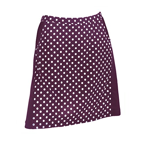 Monterey Club Ladies Contrast Side Flurry Pull-on Knit Skort #2922 (Eggplant/White, 2X-Large) by Monterey Club