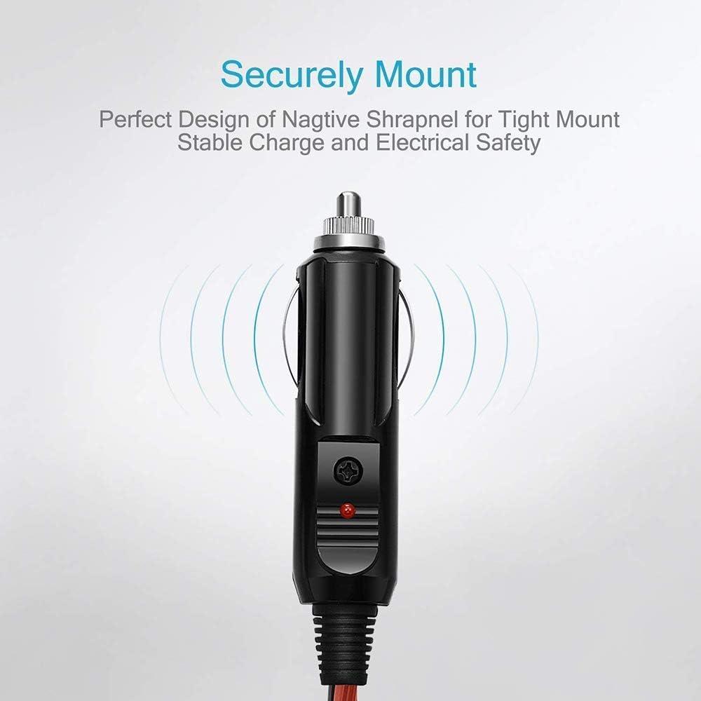 GTIWUNG 2PCS C/âble d/'Extension pour Allume Cigare Adaptateur Allume-Cigare Power C/âble 16 AWG 15A M/âle Fiche Chargeur de Voiture Power C/âble avec C/âble de 0.5M//1.6FT pour Voiture Backup//Pompe /à Air