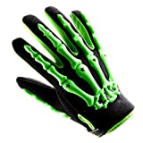 Adult Motocross Gloves Motorcycle BMX MX ATV Dirt Bike Bicycle Skeleton Cycling Gloves Green