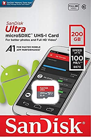 100MBs A1 U1 C10 Works with SanDisk SanDisk Ultra 200GB MicroSDXC Verified for Samsung SM-G800H by SanFlash