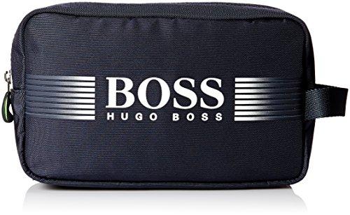 BOSS Green Men's Pixel Nylon Vanity Washbag, Blue by Hugo Boss