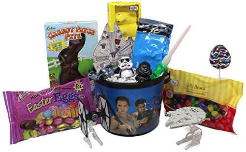 Star Wars Easter Basket | Great for Little Boys and Girls | Pre Filled with Stuffers, Chocolate, Candy, Treats and Toys | Perfect for Kids of Most Ages (Bunnies Wars Star)