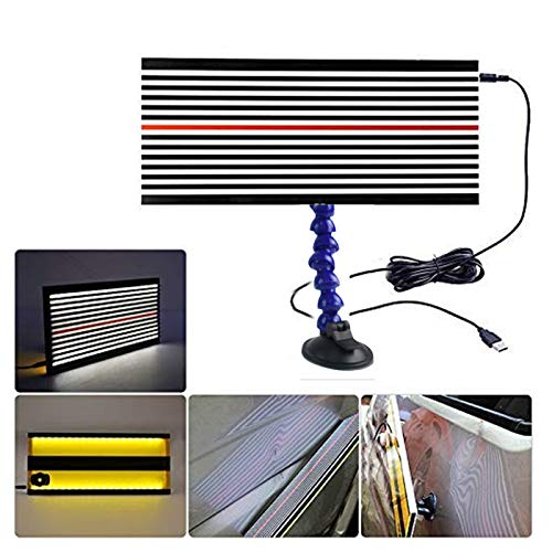 SFASTER Paintless Dent Repair LED Line Board Double Stripe Reflector Board with Adjustment Holder Light Line Board for Dent Repair ()