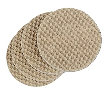 """DURA-GRIP® Heavy Duty 3"""" Round, 3/8"""" Thick Non-Slip Rubber (No glue or nails) Furniture Floor Pads, Protectors-Set of 8"""