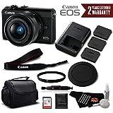 Canon EOS M100 Mirrorless Digital Camera with 15-45mm Lens (Black) 2209C011 International Version (No Warranty) - Professional Bundle