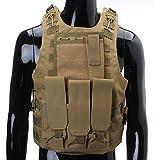CAMTOA Gilet tactique,Gilet Agression,Style agent de police,Gilet SWAT ,Gilet militaire tactique pour airsoft combat,camouflage,étui de revolver police