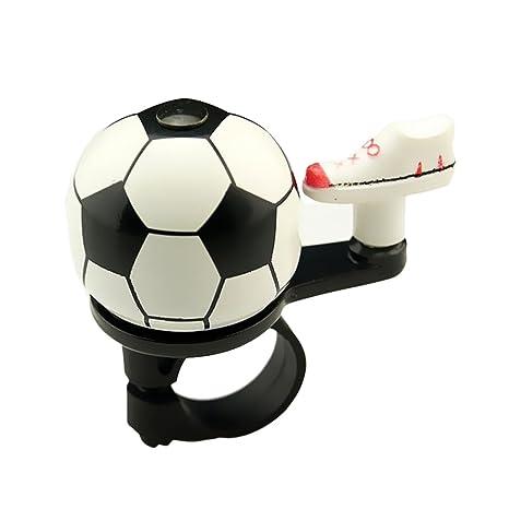 West Biking - Timbre para bicicleta, diseño de fútbol, 18 g, mujer niña Infantil hombre Niños, WhiteBlack: Amazon.es: Deportes y aire libre