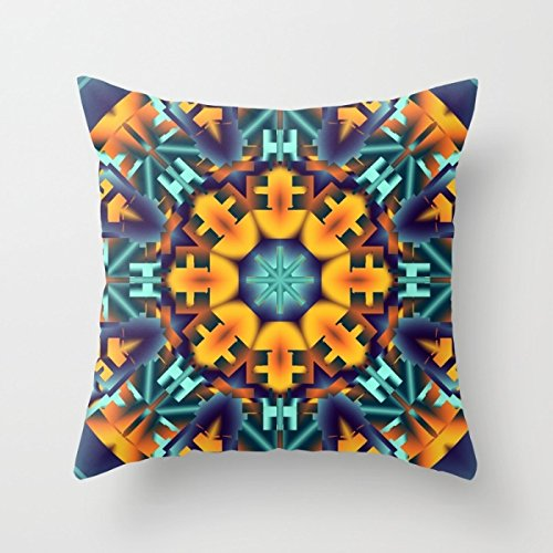 Bestseason The Geometry Pillowcover Of ,20 X 20 Inches / 50 By 50 Cm Decoration,gift For Boy Friend,boys,play Room,pub,kitchen,husband (both Sides)